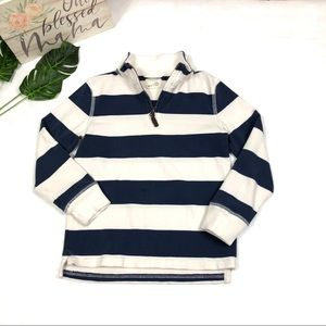 Crewcuts Boys Pullover Shirt Sweater Stripes-Navy